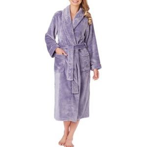 Carole Hochman Purple Plush Fleece Wrap Robe